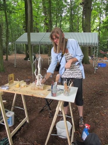 """""""Art Naturel."""" The fifth attempt of a ribbon sculpture were made during a demonstration in a small wood!"""