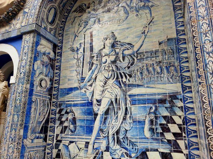 Palais des marquis de fronteira lisboh me - Azulejos roman ...