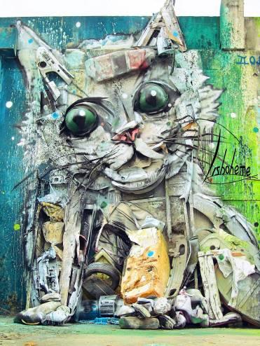Kitty. Bordalo II. Août 2015