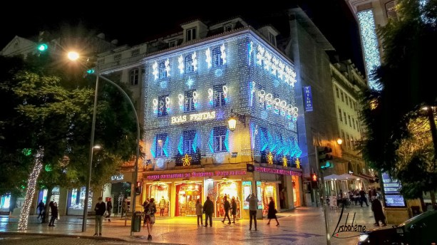 Rossio, lumières de Noël de Lisbonne 2018
