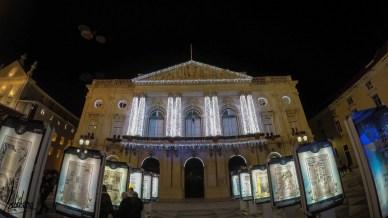La mairie de Lisbonne illuminée, lumières de Noël de Lisbonne 2018
