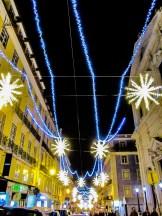 Les lumières de la rue Garrett, Chiado, lumières de Noël de Lisbonne 2018