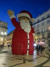 Chiado, praça Luís de Camões, lumières de Noël de Lisbonne 2018