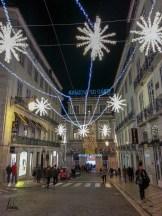 La rue Garrett illuminée, Chiado, lumières de noël de Lisbonne 2018