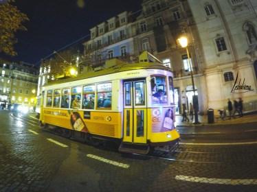Tramway Chiado nuit
