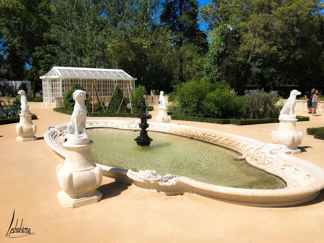 Jardin botanique, Palais de Queluz à Sintra, près de Lisbonne, Portugal