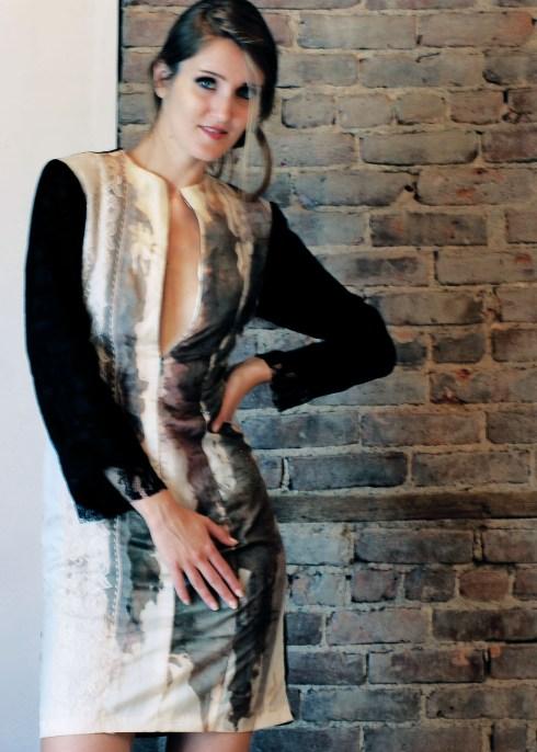 where art meets fashion..handpainted silk dress
