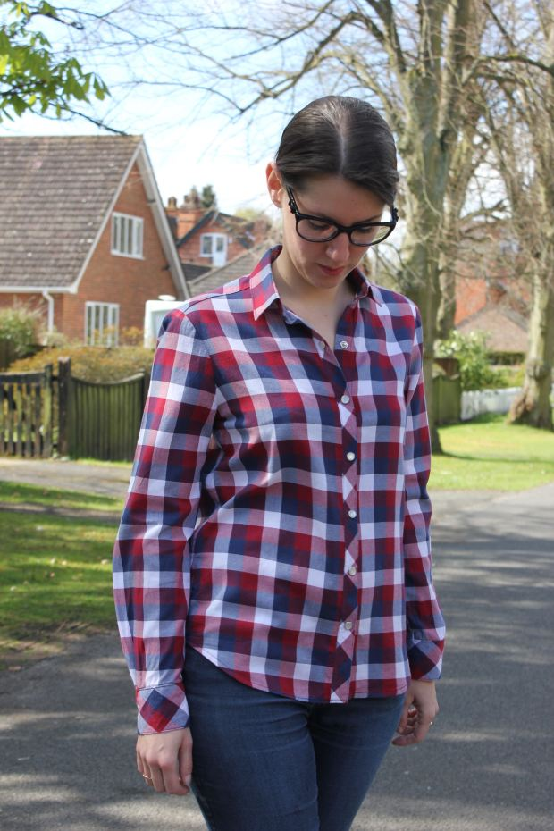 Archer button up Grainline Studio- Made by Lise Tailor