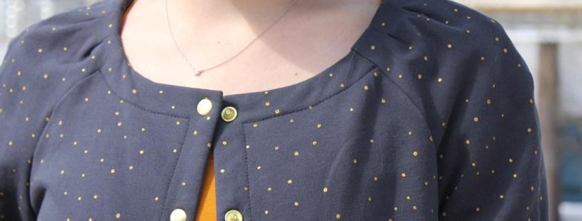 Cardigan Bergen - Anne Kerdilès -Blog couture
