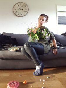 Sylvie Meis bloemen Chantal blijft slapen