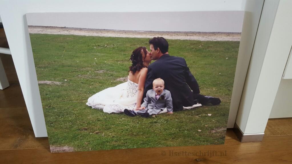 trouwfoto op hout foto moederdag cadeau Lisette Schrijft
