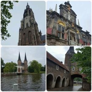 Delft historische gebouwen nieuwe kerk Oostpoort Stadhuis Markt Lisette Schrijft
