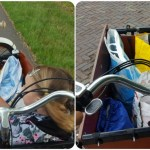 een bakfiets met trapondersteuning is ideaal voor kinderen en boodschappen Lisette Schrijft