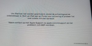 foutmelding Ipad kan geen verbinding maken Lisette Schrijft