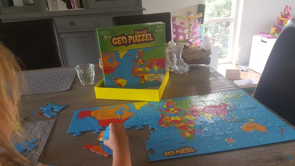 puzzel wereldkaart alle landen bruna Lisette Schrijft