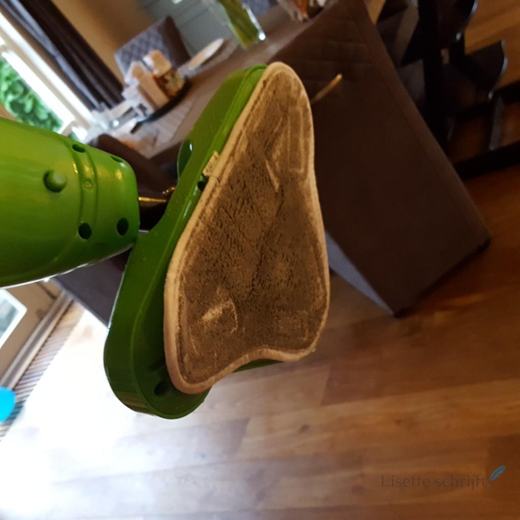 vloer reinigen met stoomreiniger H2O X5 Lisette Schrijft