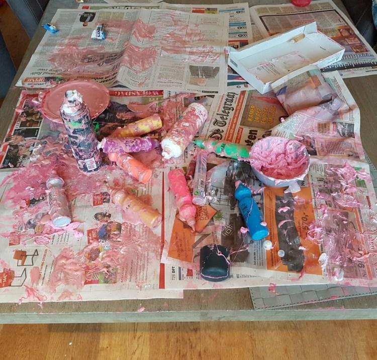 slijm maken met scheerschuim en lijm Lisette Schrijft