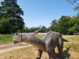dinosaurus in Beatrixpark Schiedam