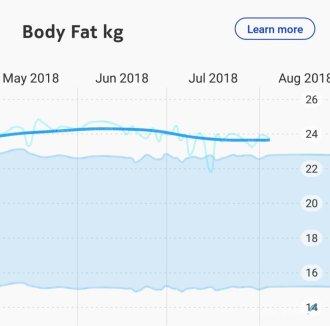 weegschaal meet lichaamsvet vetpercentage Lisette Schrijft
