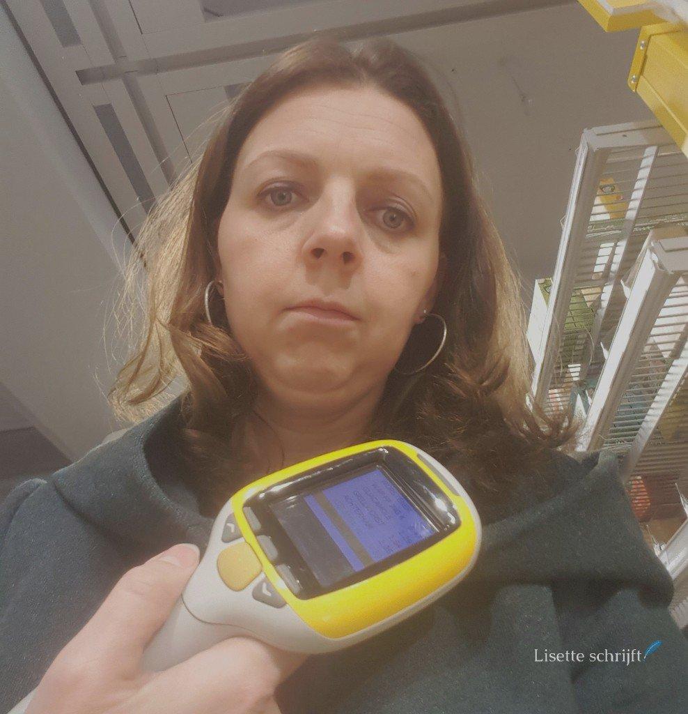 zelfscan in de supermarkt Lisette Schrijft