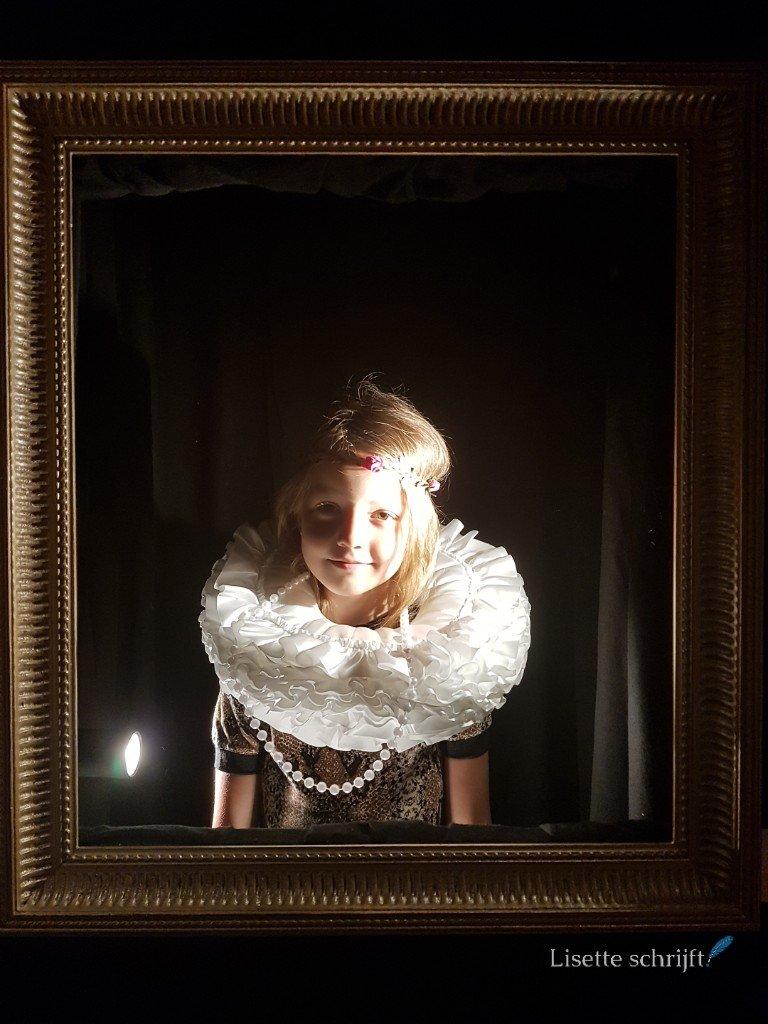 in het mauritshuis op een schilderij van rembrandt