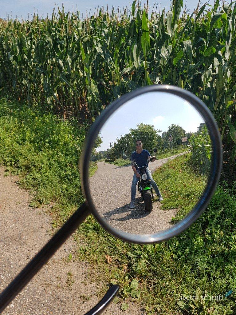 rijden op de e-chopper door Limburg