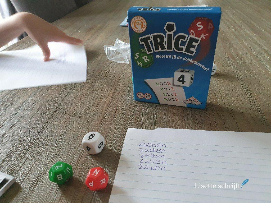 Trice uitdagend spel woordenschat