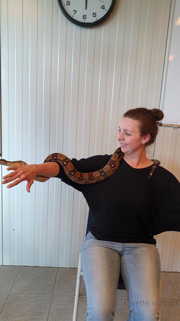 slang vasthouden kinderfeestje