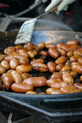 Grillede poteter. Foto: Lise von Krogh.