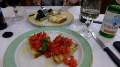 Yummy food in Florence, Italy