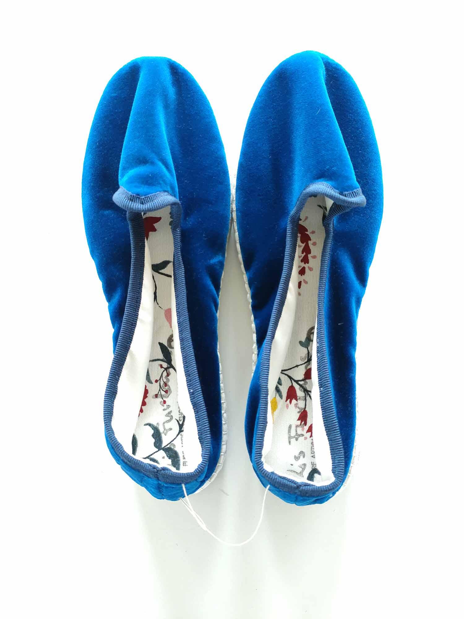 scarpez di velluto blu milano