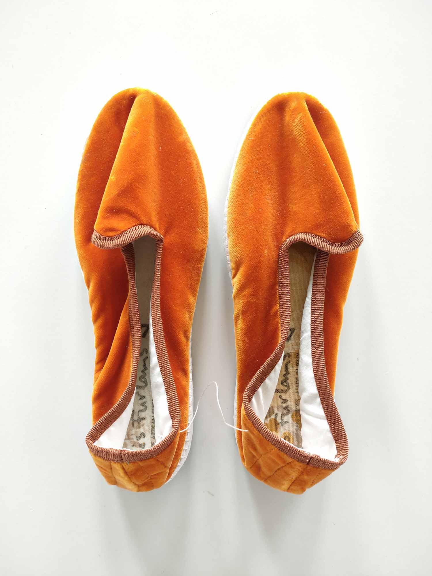scarpez in velluto artigianali roma