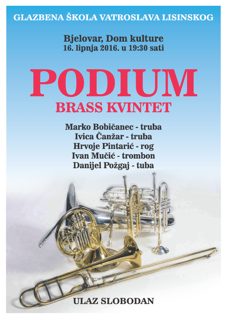 Koncert – Podium brass kvintet