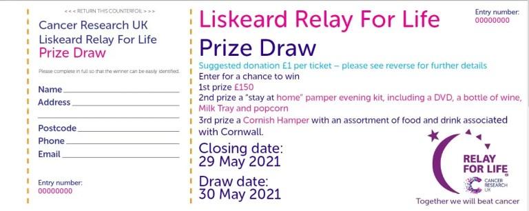 Liskeard Relay Draw Ticket