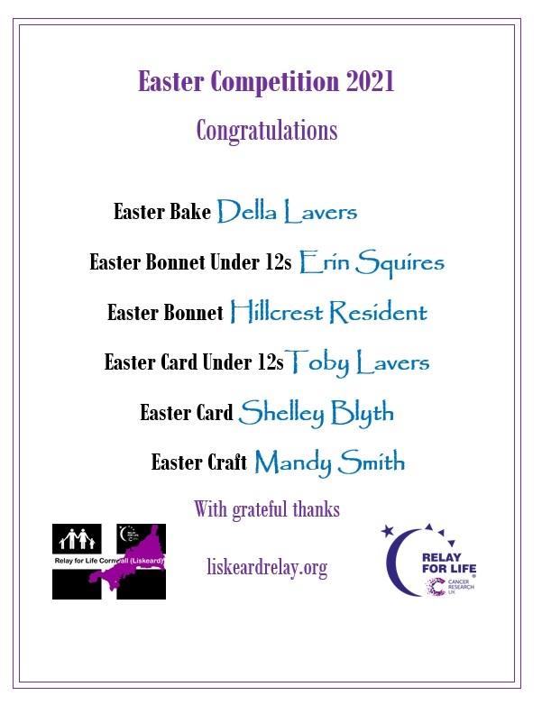 Easter Creativity Winners
