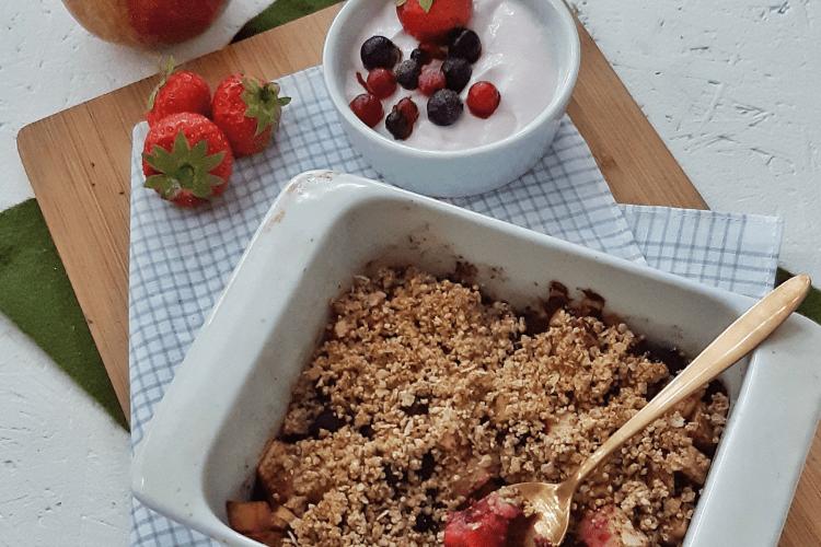Quinoa crumble met fruit