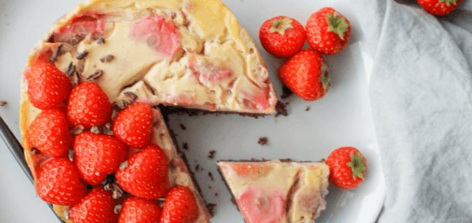 Brownie cheesecake ontbijttaartje