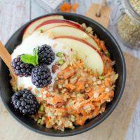Crunchy carrotcake boekweit oats