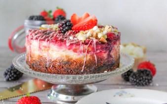 Bananenbrood cheesecake taartje