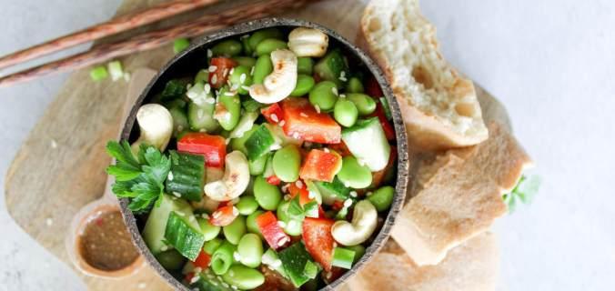 Sojaboontjes salade