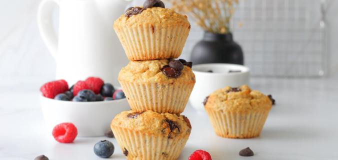 Gezonde choco chip muffins