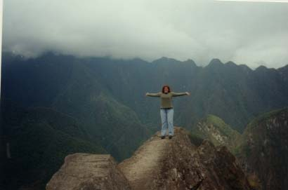 """On top of the world\"""" at the highest peak of Huyana Picchu"""