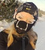 Minus 21 kallt på Luciamorgonens löprunda.