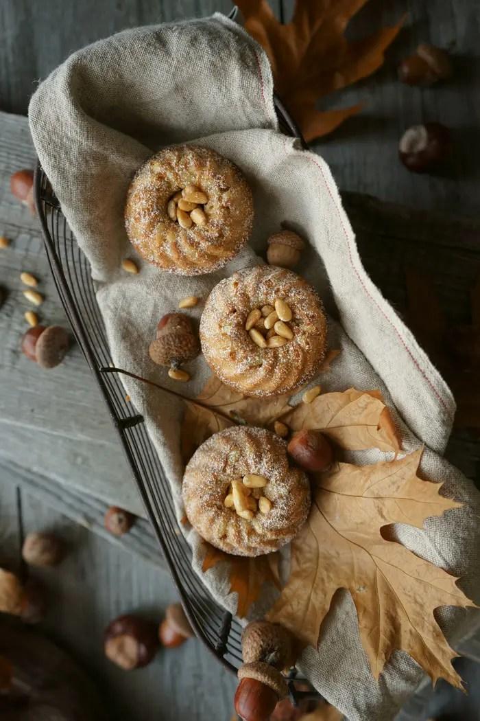 Mini Zimtküchlein mit Pinienkernen