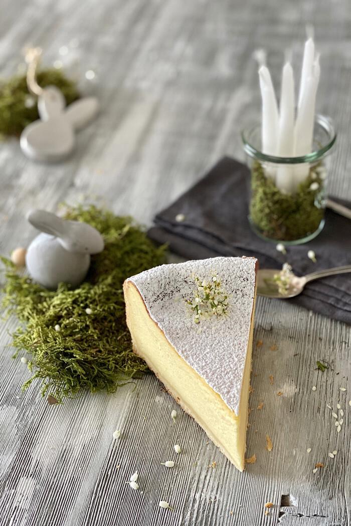 Einfacher Zitronen-Mascarpone-Käsekuchen