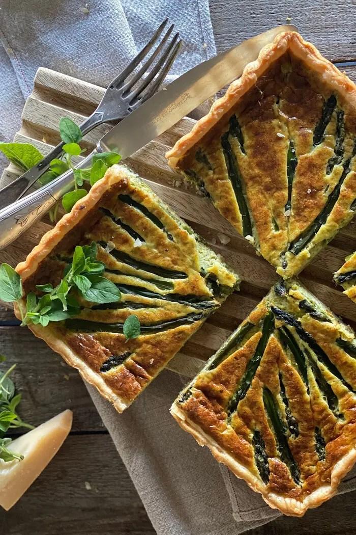 Spargel-Blätterteig Tarte