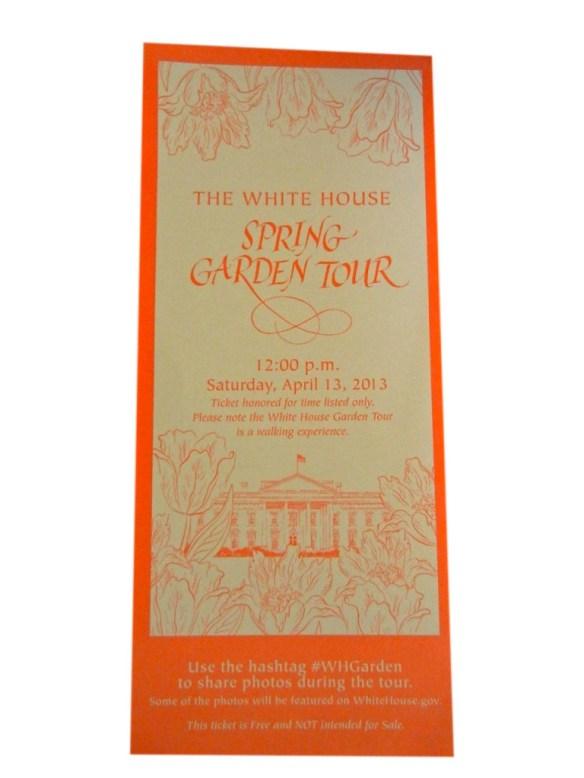 garden ticket