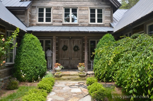 The front entry is so welcoming—two story library is just inside the doors