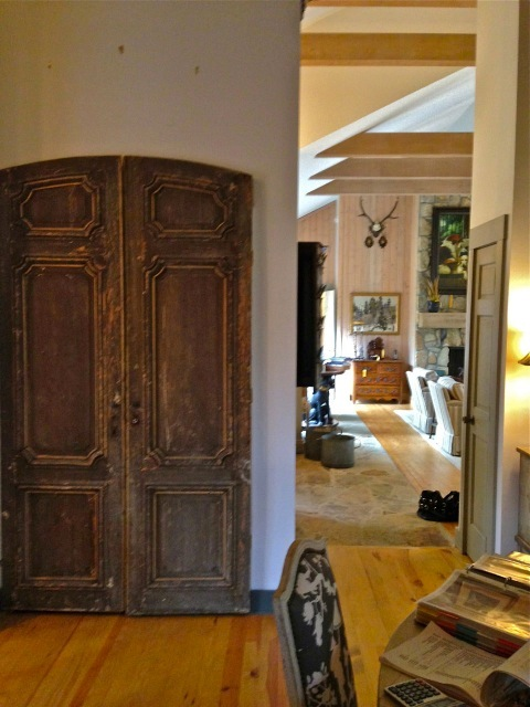 Those antique doors lead to the pantry