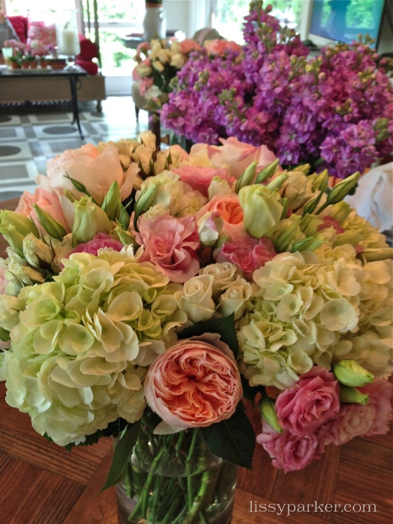 Or, take these hydrangea and David Austin roses home